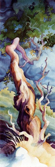 Arbutus Tree painting by Cortes Island BC artist Dianne Bersea