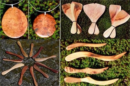 arbutus-madrone-wood-craft-gifts-utensils-and-pendants