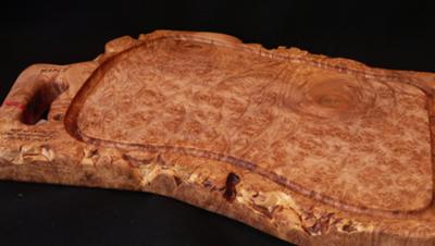 big maple burl wood chopping board--big size, good design.