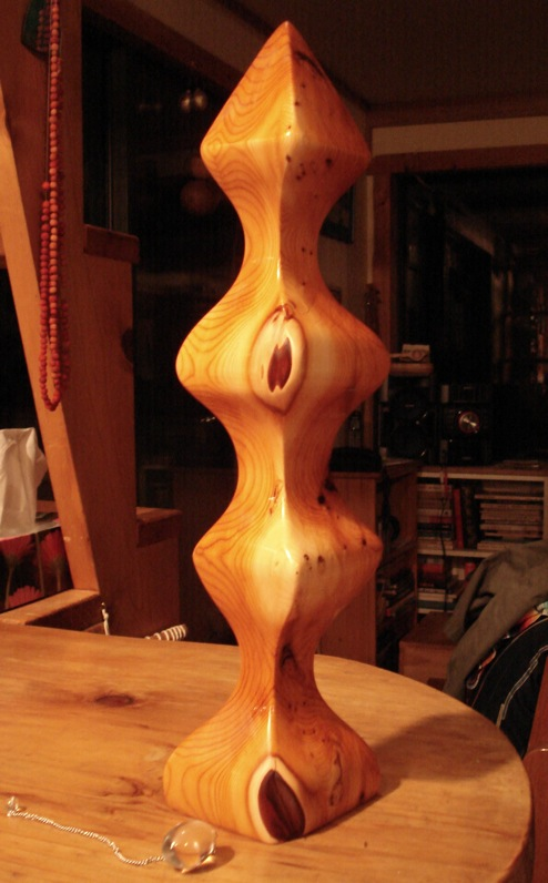 Yew Tree Wood Sculpture: Sacred Totem