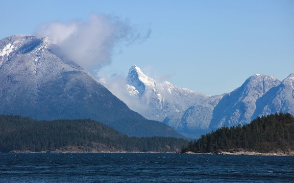 Desolation Sound and Mt Denman winter