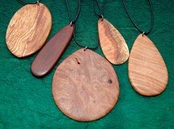 arbutus wood pendants