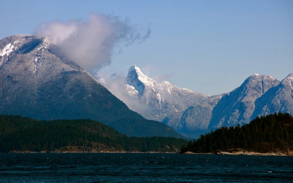 Mt_Denman_winter at end of desolation sound bc